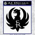 Ruger Firearms SR Decal Sticker Black Vinyl 120x120