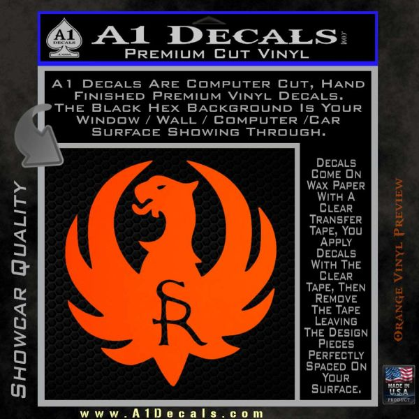 Ruger Firearms SR Decal Sticker  A Decals - Custom vinyl decals stickers   removal options