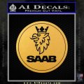 SAAB Motors CR Decal Sticker Gold Vinyl 120x120