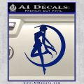 Sailor Moon Decal Sticker Crescent Blue Vinyl 120x120