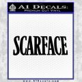 Scarface Title Decal Sticker Black Vinyl 120x120