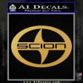 Scion Logo Decal Sticker CR Gold Vinyl 120x120