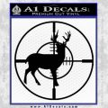 Scope Buck Solid New Decal Sticker Black Vinyl 120x120