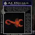Scorpion Decal Sticker Tribal Orange Emblem 120x120