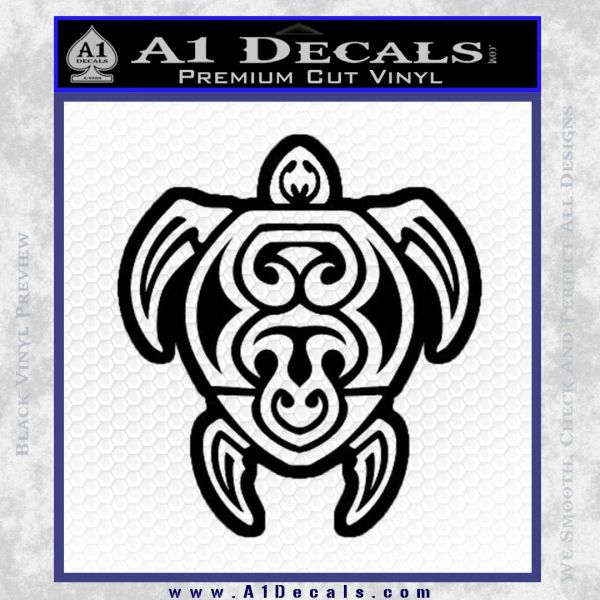 Sea Turtle Hawaiian Tribal D1 Decal Sticker A1 Decals