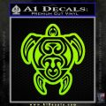 Sea Turtle Hawaiian Tribal D1 Decal Sticker Lime Green Vinyl 120x120