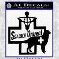 Service Dog Decal Sticker D4 Black Vinyl 120x120