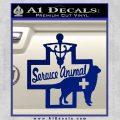 Service Dog Decal Sticker D4 Blue Vinyl 120x120