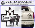 Service Dog Decal Sticker D4 Carbon FIber Black Vinyl 120x97