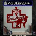 Service Dog Decal Sticker D4 DRD Vinyl 120x120