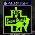 Service Dog Decal Sticker D4 Lime Green Vinyl 120x120