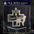 Service Dog Decal Sticker D4 Metallic Silver Emblem 120x120