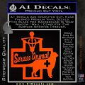 Service Dog Decal Sticker D4 Orange Emblem 120x120