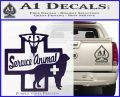 Service Dog Decal Sticker D4 PurpleEmblem Logo 120x97