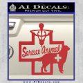 Service Dog Decal Sticker D4 Red 120x120