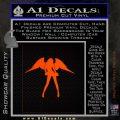Sexy Angel Decal Sticker D3 Orange Emblem 120x120