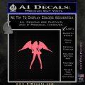 Sexy Angel Decal Sticker D3 Pink Emblem 120x120