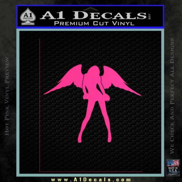 Sexy Angel Decal Sticker D3 Pink Hot Vinyl