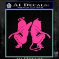 Sexy Angel Devil Girls Decal Sticker D1 Pink Hot Vinyl 120x120