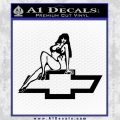 Sexy Chevy Bowtie Decal Sticker V3 Black Vinyl 120x120