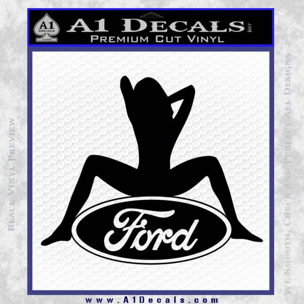 Sexy Ford Girl Decal Sticker V1 A1 Decals