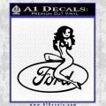 Sexy Ford Girl Decal Sticker V2 Black Vinyl 120x120