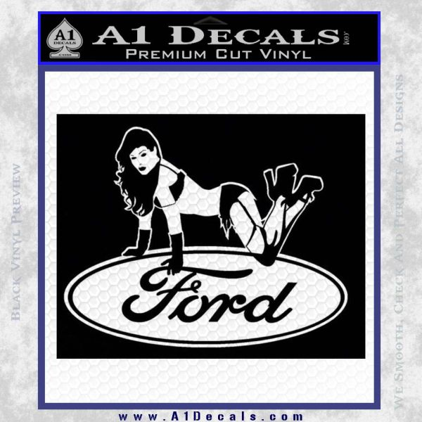 Sexy Ford Girl Decal Sticker V6 u00bb A1 Decals