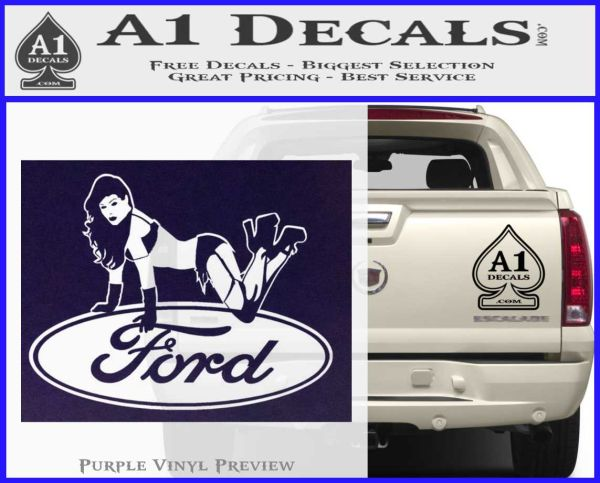 Sexy Ford Girl Decal Sticker V6 A1 Decals