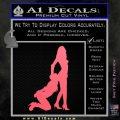 Sexy Lady Eating Ass Decal Sticker Pink Emblem 120x120