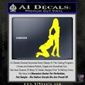 Sexy Lady Eating Ass Decal Sticker Yellow Laptop 120x120