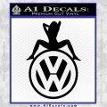 Sexy VW Decal Sticker Black Vinyl 120x120