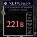 Sherlock Holmes Decal 221B Sticker Pink Emblem 120x120