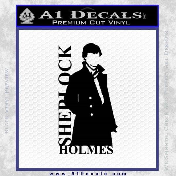 Sherlock Holmes Poster D1 Decal Sticker Black Vinyl