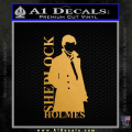 Sherlock Holmes Poster D1 Decal Sticker Gold Metallic Vinyl 120x120