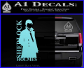 Sherlock Holmes Poster D1 Decal Sticker Light Blue Vinyl 120x97