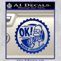 Simpsons Homer Certimafied Decal Sticker Blue Vinyl 120x120