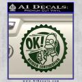 Simpsons Homer Certimafied Decal Sticker Dark Green Vinyl 120x120