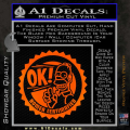 Simpsons Homer Certimafied Decal Sticker Orange Emblem 120x120