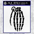 Skeleton Grenade Decal Sticker Black Vinyl 120x120