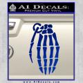 Skeleton Grenade Decal Sticker Blue Vinyl 120x120