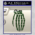 Skeleton Grenade Decal Sticker Dark Green Vinyl 120x120