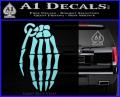 Skeleton Grenade Decal Sticker Light Blue Vinyl 120x97