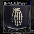 Skeleton Grenade Decal Sticker Metallic Silver Vinyl 120x120