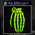 Skeleton Grenade Decal Sticker Neon Green Vinyl 120x120