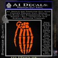 Skeleton Grenade Decal Sticker Orange Emblem 120x120