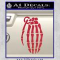 Skeleton Grenade Decal Sticker Red Vinyl 120x120