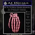 Skeleton Grenade Decal Sticker Soft Pink Emblem 120x120