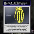 Skeleton Grenade Decal Sticker Yellow Vinyl 120x120