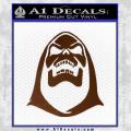 Skeletor Decal Sticker He Man Brown Vinyl 120x120