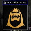 Skeletor Decal Sticker He Man Gold Metallic Vinyl 120x120